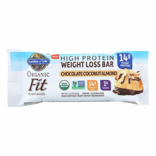 Garden Of Life - Fit High Protein Bar Chocolate Coconut Almond - Case of 12 - 1.9 OZ Perspective: front