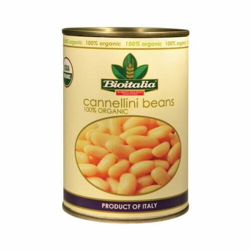Bioitalia Beans - Cannellini Beans - Case of 12 - 14 oz. Perspective: front