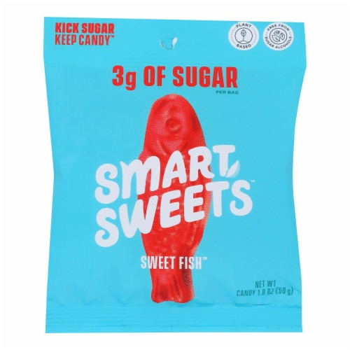 Smartsweets - Gummy Sweet Fish - Case of 12 - 1.8 OZ Perspective: front