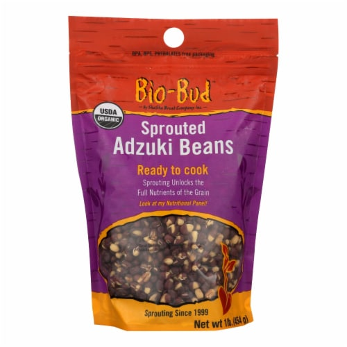 Shasha Bread - Beans Adzuki Sprouted - Case of 12 - 16 OZ Perspective: front