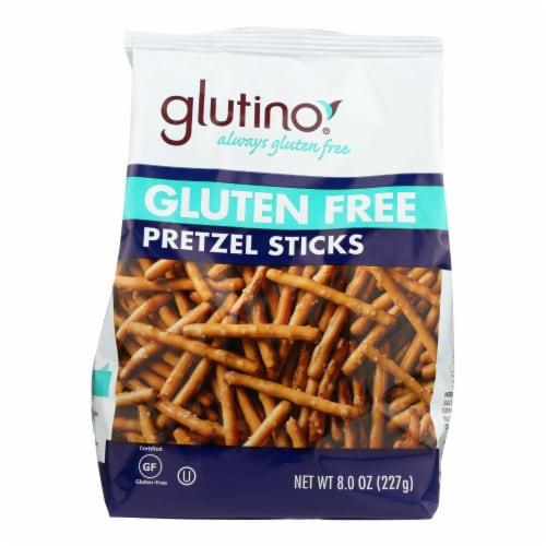 Glutino Pretzels Sticks - Case of 12 - 8 oz. Perspective: front