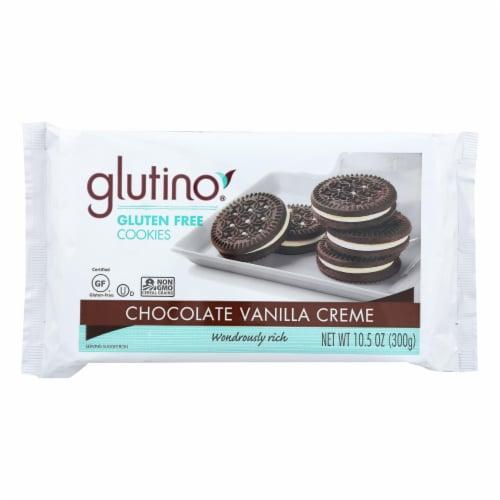 Glutino Vanilla Creme Cookies - Case of 12 - 10.5 oz. Perspective: front
