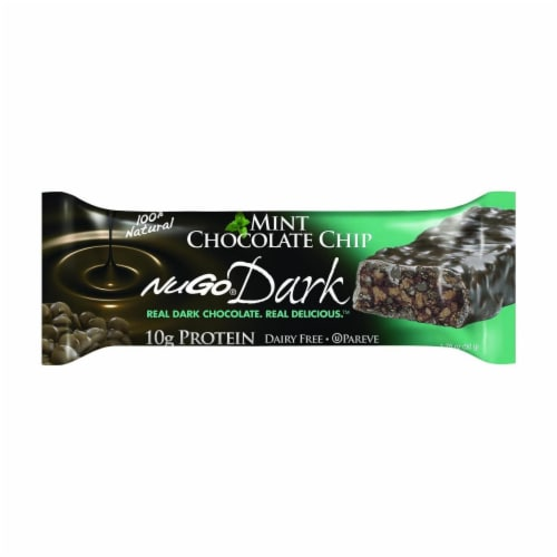 NuGo Nutrition Bar - Dark - Mint Chocolate Chip - 1.76 oz - Case of 12 Perspective: front