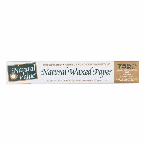 Natural Value - Waxed Paper - Case of 12-75 FT Perspective: front