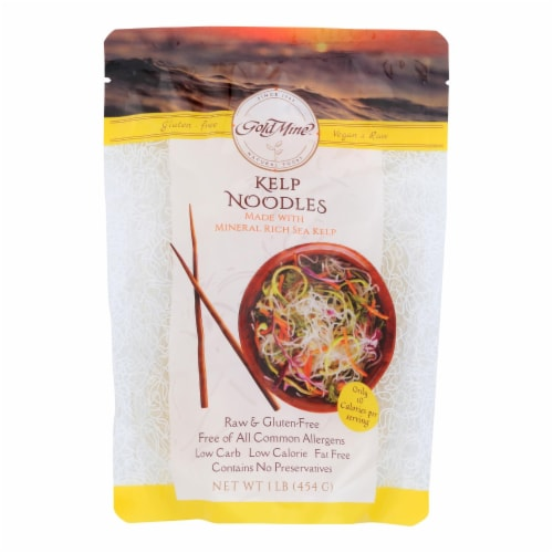 Gold Mine Kelp Noodles - Ready To Eat - Case of 12 - 1 lb. Perspective: front