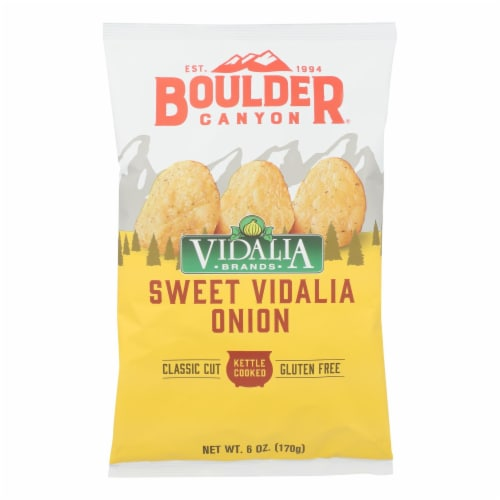 Boulder Canyon - Kettle Chips - Vidalia Onion - Case of 12 - 6 oz. Perspective: front