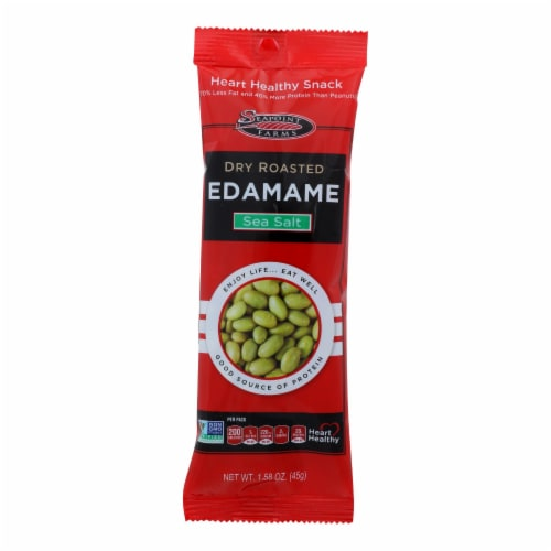 Seapoint Farms Edamame - Dry Roasted - Lightly Salted - 1.58 oz - Case of 12 Perspective: front