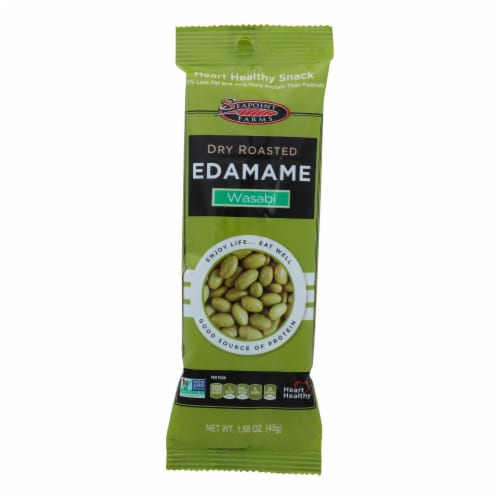 Seapoint Farms Edamame - Dry Roasted - Spicy Wasabi - 1.58 oz - Case of 12 Perspective: front