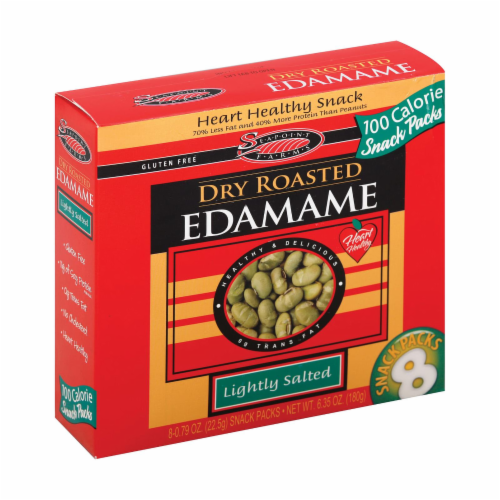 Seapoint Farms Dry Roasted Edamame - Lightly Salted - Case of 12 - 0.79 oz. Perspective: front