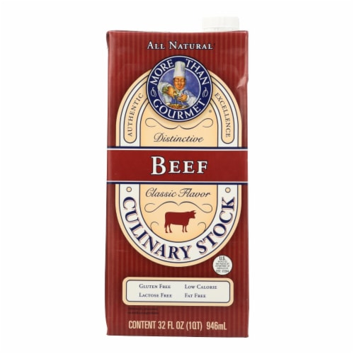More Than Gourmet - Beef Stock - Case of 12 - 32 OZ Perspective: front