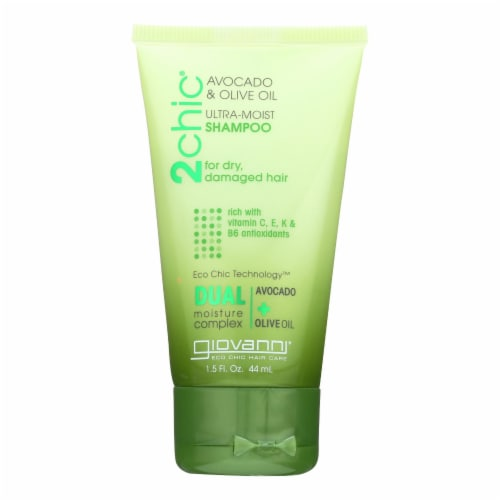 Giovanni Hair Shampoo - 2Chic Ultra-Moist With Avocado and Olive Oil  -Case of 12 - 1.5 fl oz Perspective: front