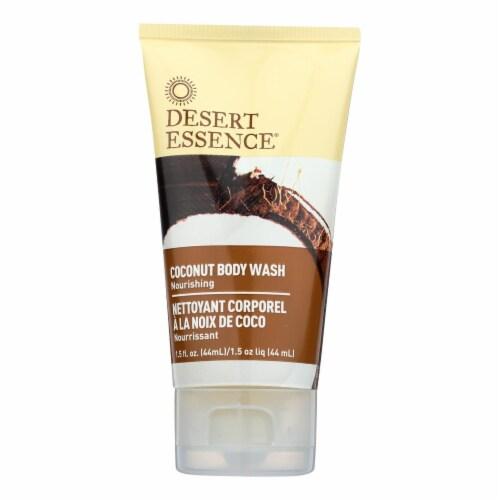 Desert Essence - Body Wash - Coconut - Travel Size - 1.5 fl oz - 1 Case Perspective: front