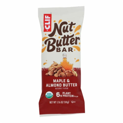 Clif Bar - Nut Butter Filled Bar - Maple Almond Butter - Case of 12 - 1.76 oz. Perspective: front