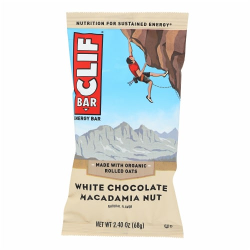 Clif Bar - Organic White Chocolate Macadamia Nut - Case of 12 - 2.4 oz Perspective: front