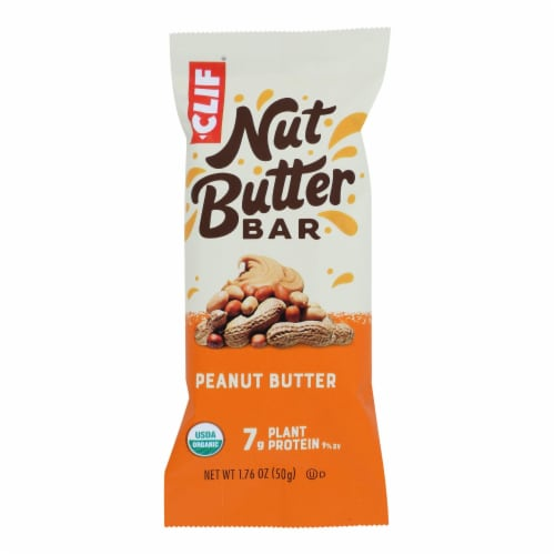 Clif Bar Organic Nut Butter Filled Energy Bar - Peanut Butter - Case of 12 - 1.76 oz. Perspective: front