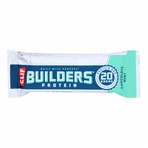 Clif Bar Builder Bar - Chocolate Mint - Case of 12 - 2.4 oz Perspective: front