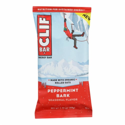 Clif Bar Peppermint Bark Energy Bar - Case of 12 - 2.4 OZ Perspective: front