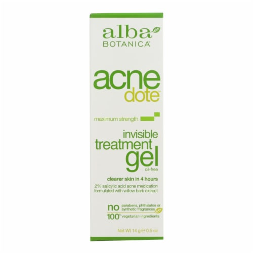 Alba Botanica - Natural Acnedote Invisible Treatment Gel - 0.5 oz Perspective: front
