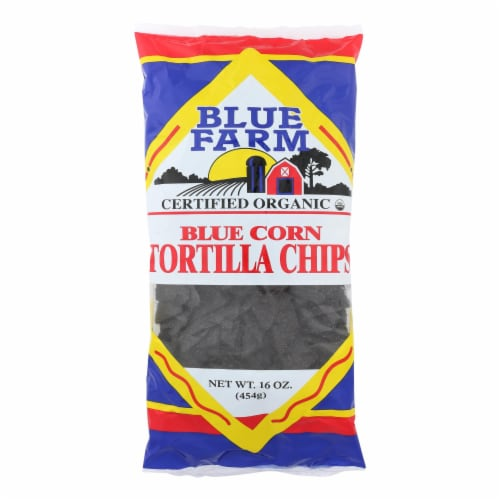 Blue Farm - Organic Blue Corn Tortilla Chips - Case of 12 - 16 oz Perspective: front