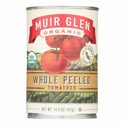 Muir Glen Whole Peeled Tomatoes - Tomatoes - Case of 12 - 14.5 oz. Perspective: front