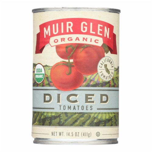Muir Glen Organic Tomatoes Diced - Tomatoes - Case of 12 - 14.5 oz. Perspective: front