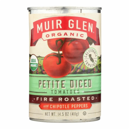 Muir Glen Diced Chipotle Tomato - Tomato - Case of 12 - 14.5 oz. Perspective: front
