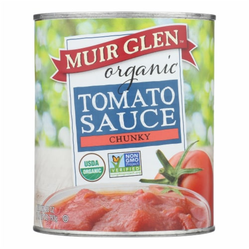 Muir Glen Organic Chunky Tomato Sauce - Tomato - Case of 12 - 28 oz. Perspective: front