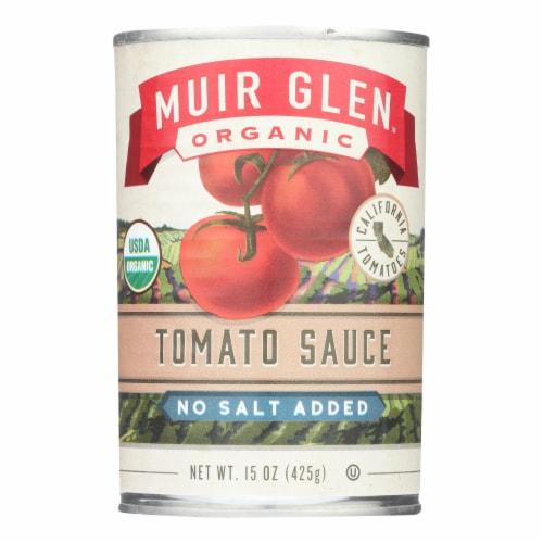 Muir Glen Tomato Sauce No Salt Added - Tomato - Case of 12 - 15 Fl oz. Perspective: front