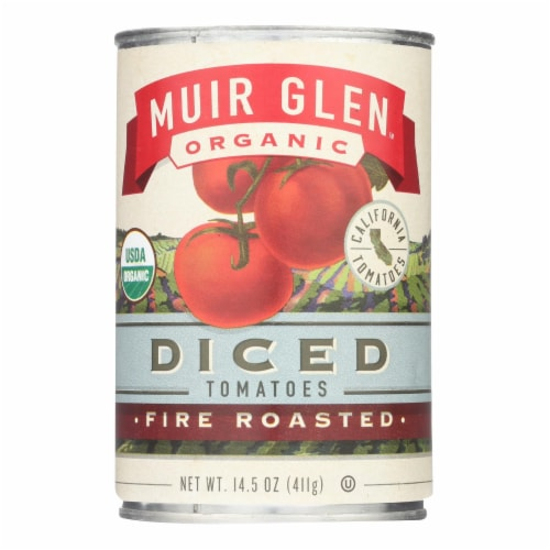 Muir Glen Fire Roasted Diced Tomatoes - Tomatoes - Case of 12 - 14.5 oz. Perspective: front