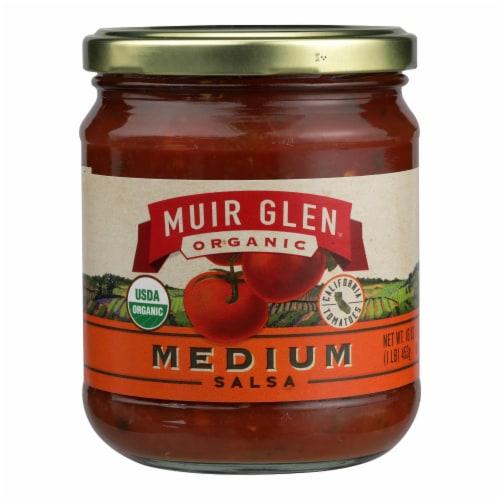 Muir Glen Organic Medium Salsa - Tomato - Case of 12 - 16 oz. Perspective: front