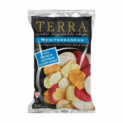 Terra Chips Exotic Vegetable Chips - Mediterranean - Case of 12 - 6.8 oz. Perspective: front