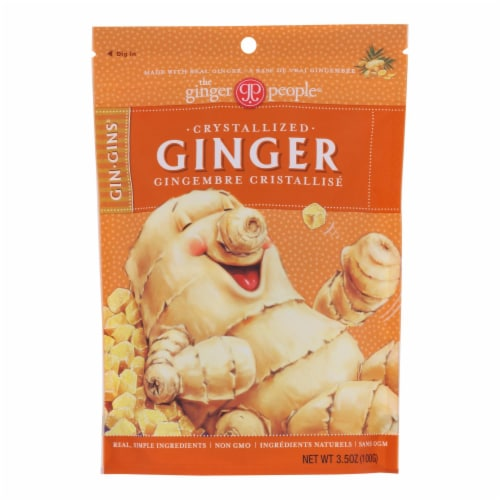 Ginger People - Crystallized Ginger - Case of 12 - 3.5 oz. Perspective: front