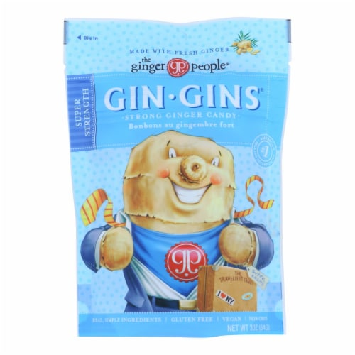 Ginger People - Gin Gins Ginger Candy - The Traveler's Candy - Case of 12 - 3 oz. Perspective: front