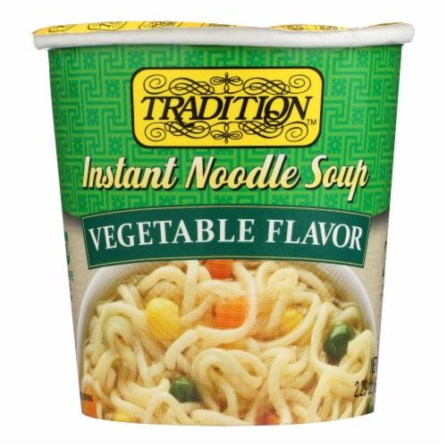 Tradition Instant Noodle Soup - Vegetable Flavor - Case of 12 - 2.29 oz. Perspective: front