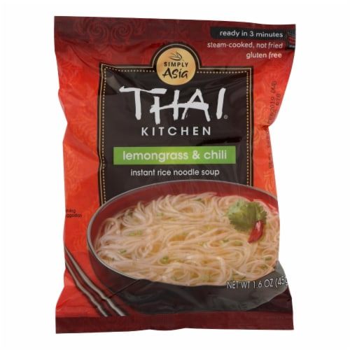 Thai Kitchen Instant Rice Noodle Soup - Lemongrass and Chili - Medium - 1.6 oz - Case of 6 Perspective: front