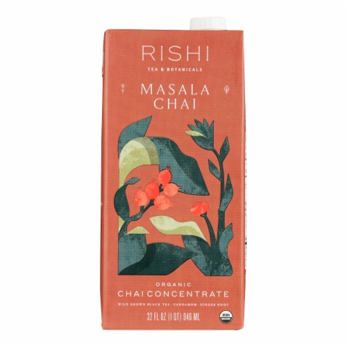 Rishi Masala Chai Concentrate - Case of 12 - 32 fl oz Perspective: front