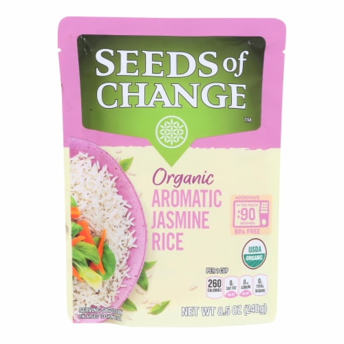 Seeds Of Change - Rice Aromatic Jasmine - Case of 12 - 8.5 OZ Perspective: front