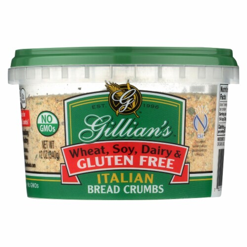 Gillian's Food Bread Crumbs - Italian Style - Case of 12 - 12 oz. Perspective: front