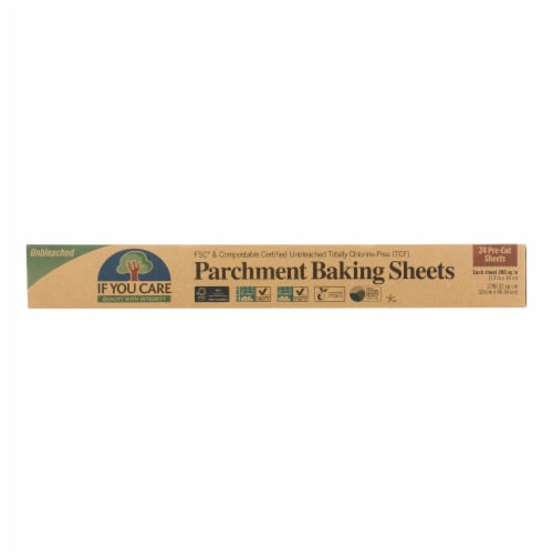 If You Care Parchment Baking Sheet - Paper - Case of 12 - 24 Count Perspective: front