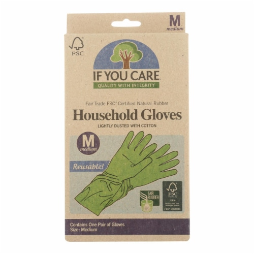 If You Care Household Gloves - Medium - 12 Pairs Perspective: front