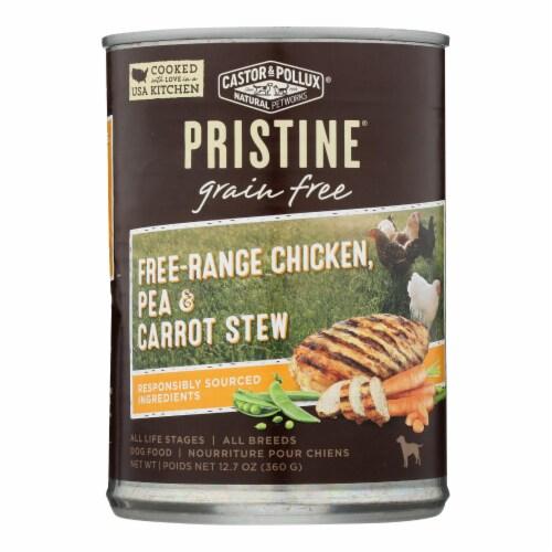 Castor & Pollux Dog Food, Prstine Grain-Free-Range Chicken,Pea,Carrot Stew -12Case-12.7oz Perspective: front