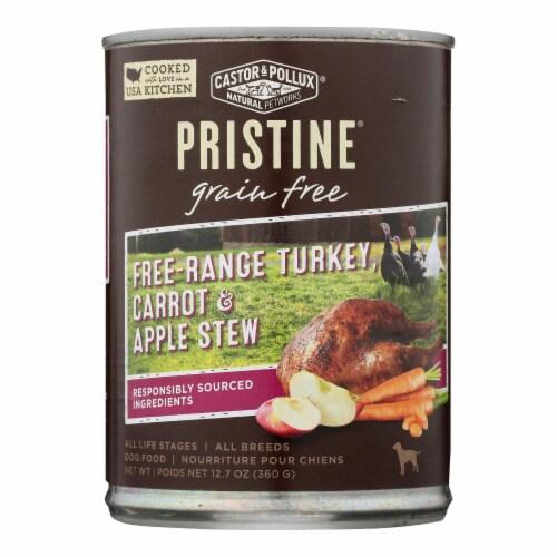 Castor & Pollux Wet Dog Food,Prstine Grain-Free-Range Turkey,Carrot,Apple Stew -12Case-12.7oz Perspective: front
