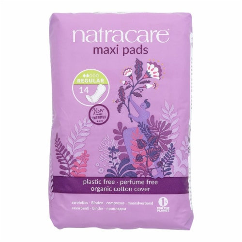 Natracare Organic & Natural Maxi Pads  - Case of 12 - 14 CT Perspective: front