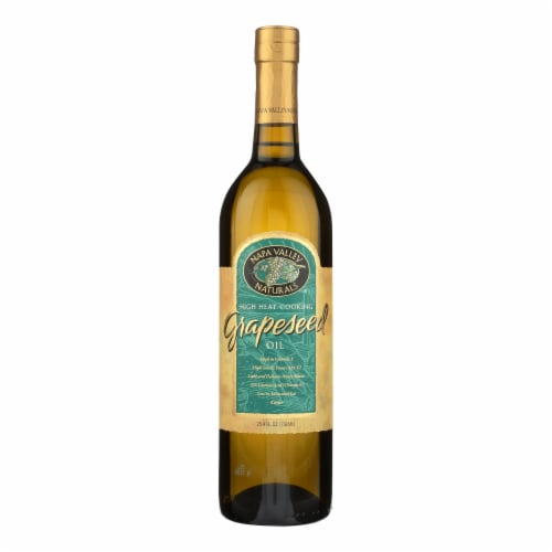 Napa Valley Naturals Grapeseed Oil - Case of 12 - 25.4 Fl oz. Perspective: front