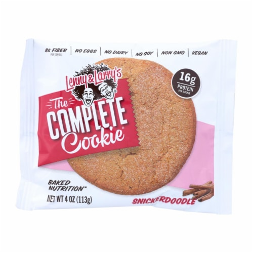 Lenny and Larry's Snickerdoodle Cookie - Cinnamon - Case of 12 - 4 oz. Perspective: front