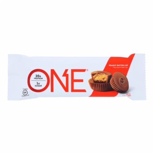 One Bar - Bar Protein Peanut Butter Cup - Case of 12 - 60 GRM Perspective: front