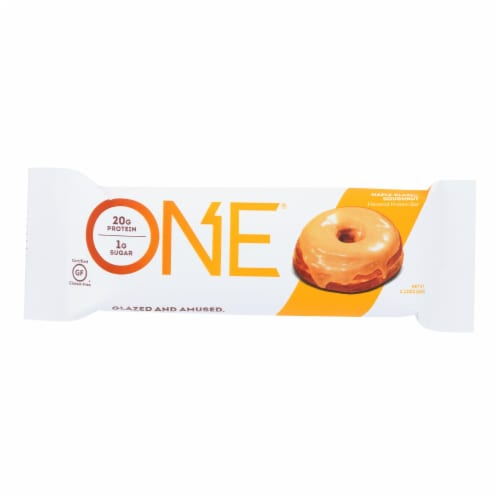 One Brands Protein Bar Maple Glazed Doughnut  - Case of 12 - 60 GRM Perspective: front