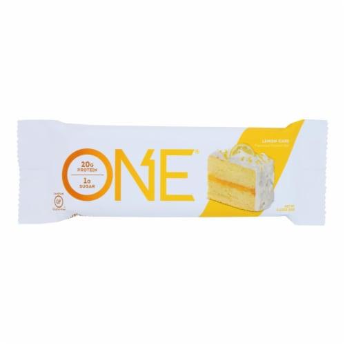 One Brands Lemon Cake Flavored Protein Bar Lemon Cake - Case of 12 - 60 GRM Perspective: front