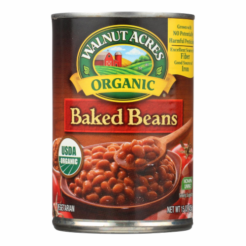 Walnut Acres Organic Baked Beans - Case of 12 - 15 oz. Perspective: front