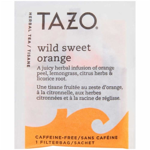 Tazo Wild Sweet Orange Enveloped Hot Tea Bags, 24 count -- 6 per case Perspective: front